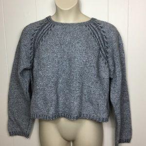 The Territory Ahead Crop wool blend sweater XL